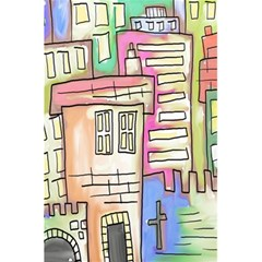 A Village Drawn In A Doodle Style 5 5  X 8 5  Notebooks by BangZart