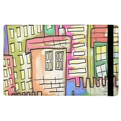 A Village Drawn In A Doodle Style Apple Ipad 3/4 Flip Case by BangZart