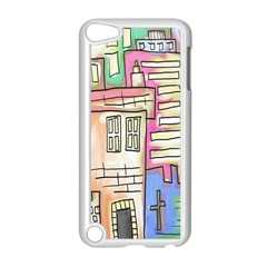 A Village Drawn In A Doodle Style Apple Ipod Touch 5 Case (white) by BangZart