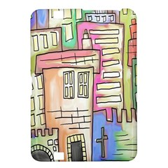 A Village Drawn In A Doodle Style Kindle Fire Hd 8 9  by BangZart
