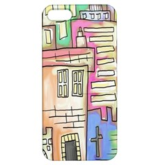 A Village Drawn In A Doodle Style Apple Iphone 5 Hardshell Case With Stand by BangZart
