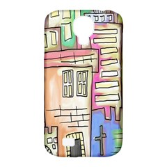 A Village Drawn In A Doodle Style Samsung Galaxy S4 Classic Hardshell Case (pc+silicone) by BangZart