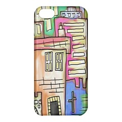 A Village Drawn In A Doodle Style Apple Iphone 5c Hardshell Case by BangZart