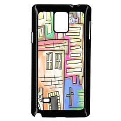 A Village Drawn In A Doodle Style Samsung Galaxy Note 4 Case (black) by BangZart