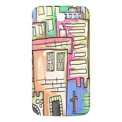 A Village Drawn In A Doodle Style Samsung Galaxy Mega I9200 Hardshell Back Case by BangZart