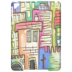 A Village Drawn In A Doodle Style Apple Ipad Pro 9 7   Hardshell Case by BangZart