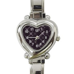Abstract Seamless Pattern Background Heart Italian Charm Watch by BangZart