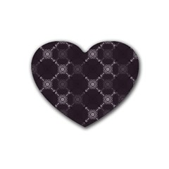 Abstract Seamless Pattern Background Rubber Coaster (heart)  by BangZart