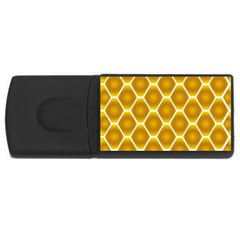 Snake Abstract Pattern Usb Flash Drive Rectangular (4 Gb) by BangZart