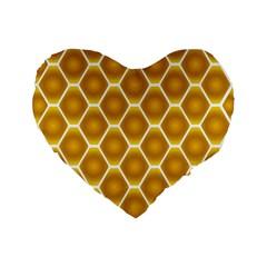 Snake Abstract Pattern Standard 16  Premium Flano Heart Shape Cushions by BangZart