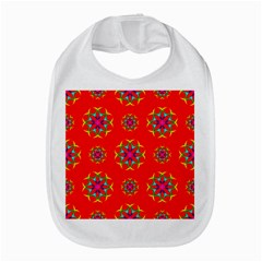 Rainbow Colors Geometric Circles Seamless Pattern On Red Background Amazon Fire Phone by BangZart