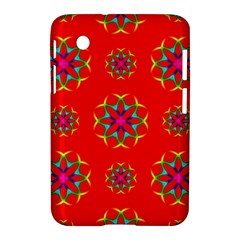 Rainbow Colors Geometric Circles Seamless Pattern On Red Background Samsung Galaxy Tab 2 (7 ) P3100 Hardshell Case  by BangZart