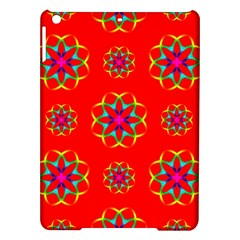 Rainbow Colors Geometric Circles Seamless Pattern On Red Background Ipad Air Hardshell Cases by BangZart
