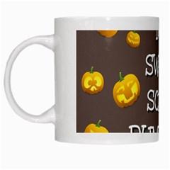 Hallowen My Sweet Scary Pumkins White Mugs by BangZart