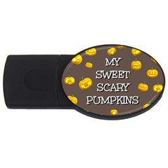 Hallowen My Sweet Scary Pumkins Usb Flash Drive Oval (4 Gb) by BangZart