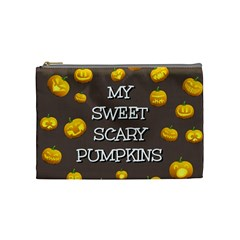 Hallowen My Sweet Scary Pumkins Cosmetic Bag (medium)  by BangZart