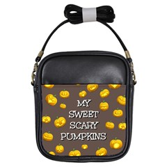Hallowen My Sweet Scary Pumkins Girls Sling Bags by BangZart