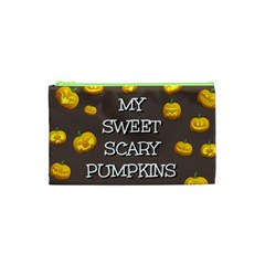 Hallowen My Sweet Scary Pumkins Cosmetic Bag (xs) by BangZart