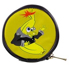 Funny Cartoon Punk Banana Illustration Mini Makeup Bags by BangZart