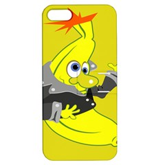 Funny Cartoon Punk Banana Illustration Apple Iphone 5 Hardshell Case With Stand by BangZart
