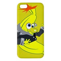 Funny Cartoon Punk Banana Illustration Iphone 5s/ Se Premium Hardshell Case by BangZart