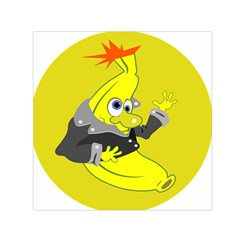Funny Cartoon Punk Banana Illustration Small Satin Scarf (square) by BangZart