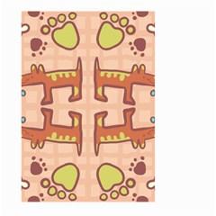 Pet Dog Design  Tileable Doodle Dog Art Large Garden Flag (two Sides) by BangZart