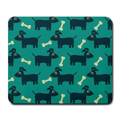 Happy Dogs Animals Pattern Large Mousepads by BangZart