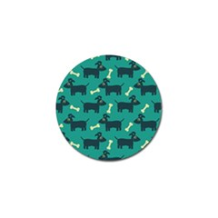 Happy Dogs Animals Pattern Golf Ball Marker (4 Pack) by BangZart
