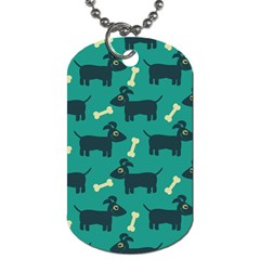 Happy Dogs Animals Pattern Dog Tag (two Sides) by BangZart