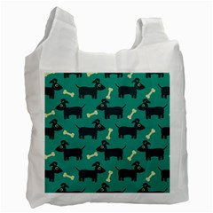 Happy Dogs Animals Pattern Recycle Bag (two Side)  by BangZart