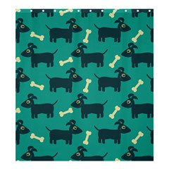 Happy Dogs Animals Pattern Shower Curtain 66  X 72  (large)  by BangZart