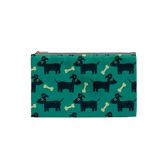 Happy Dogs Animals Pattern Cosmetic Bag (small)  by BangZart