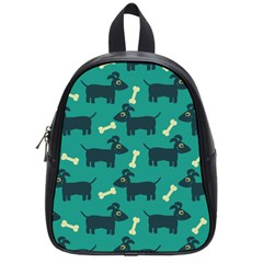 Happy Dogs Animals Pattern School Bags (small)  by BangZart