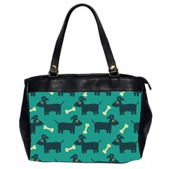 Happy Dogs Animals Pattern Office Handbags (2 Sides)  by BangZart