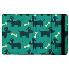 Happy Dogs Animals Pattern Apple Ipad 2 Flip Case by BangZart