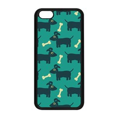 Happy Dogs Animals Pattern Apple Iphone 5c Seamless Case (black) by BangZart