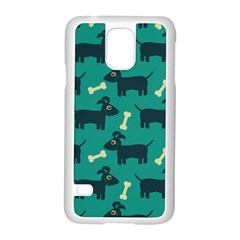 Happy Dogs Animals Pattern Samsung Galaxy S5 Case (white) by BangZart