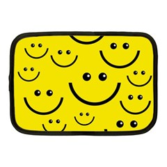 Digitally Created Yellow Happy Smile  Face Wallpaper Netbook Case (medium)  by BangZart