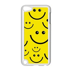 Digitally Created Yellow Happy Smile  Face Wallpaper Apple Ipod Touch 5 Case (white) by BangZart