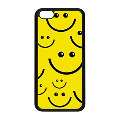 Digitally Created Yellow Happy Smile  Face Wallpaper Apple Iphone 5c Seamless Case (black) by BangZart