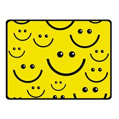 Digitally Created Yellow Happy Smile  Face Wallpaper Double Sided Fleece Blanket (small)  by BangZart