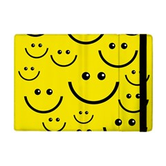 Digitally Created Yellow Happy Smile  Face Wallpaper Ipad Mini 2 Flip Cases by BangZart