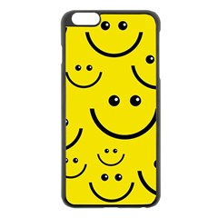Digitally Created Yellow Happy Smile  Face Wallpaper Apple Iphone 6 Plus/6s Plus Black Enamel Case by BangZart