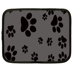 Dog Foodprint Paw Prints Seamless Background And Pattern Netbook Case (large) by BangZart