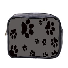 Dog Foodprint Paw Prints Seamless Background And Pattern Mini Toiletries Bag 2 Side by BangZart