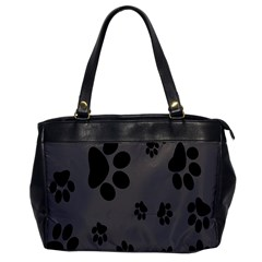 Dog Foodprint Paw Prints Seamless Background And Pattern Office Handbags by BangZart