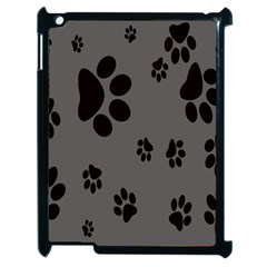 Dog Foodprint Paw Prints Seamless Background And Pattern Apple Ipad 2 Case (black) by BangZart