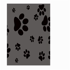 Dog Foodprint Paw Prints Seamless Background And Pattern Large Garden Flag (two Sides) by BangZart