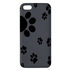 Dog Foodprint Paw Prints Seamless Background And Pattern Iphone 5s/ Se Premium Hardshell Case by BangZart